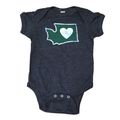 Baby Onesie | Heart in Washington | Multiple Colors