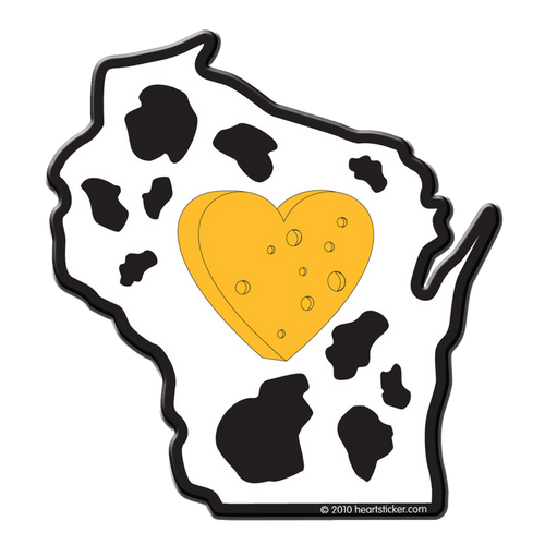 Heart in Wisconsin Sticker - The Heart Sticker Company