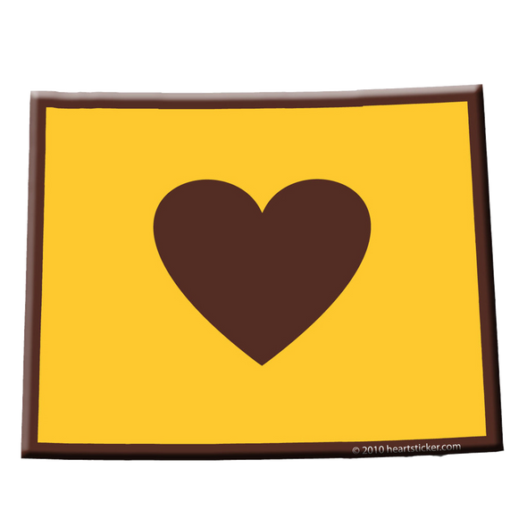 Wyoming - Heart in Wyoming Sticker - The Heart Sticker Company