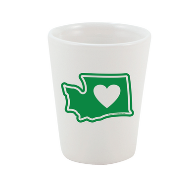 Drinkware | Heart in Washington | Shot Galss - The Heart Sticker Company