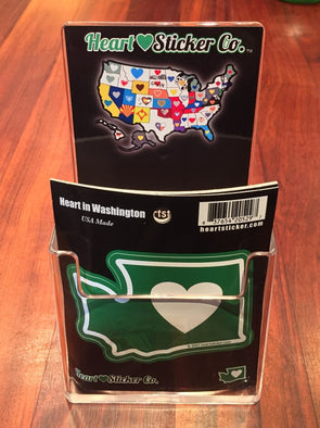 Wholesale Heart in Washington 50 Pack of Sticker and Display - The Heart Sticker Company