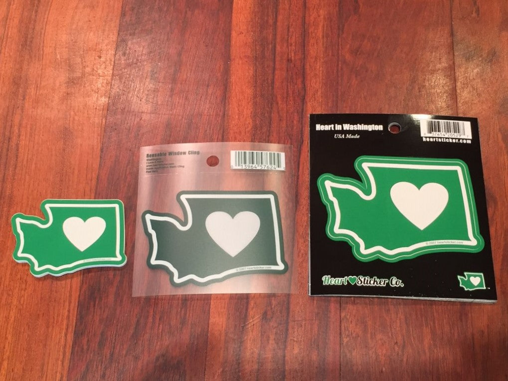 Wholesale Heart in Washington 50 Pack of Sticker and Display