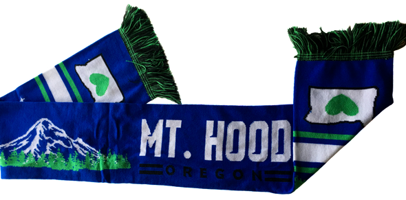 soccer scarf heart in oregon reversible mt hood