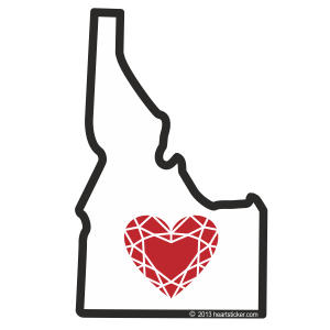 Heart in Idaho Sticker - The Heart Sticker Company