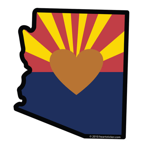 Arizona - Heart in Arizona Sticker