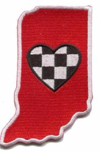 Indiana - Heart in Indiana IN Embroidered Sticker - Single
