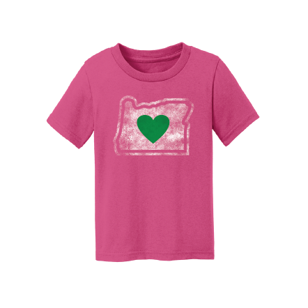 Infant T-Shirts Heart in Oregon Pink
