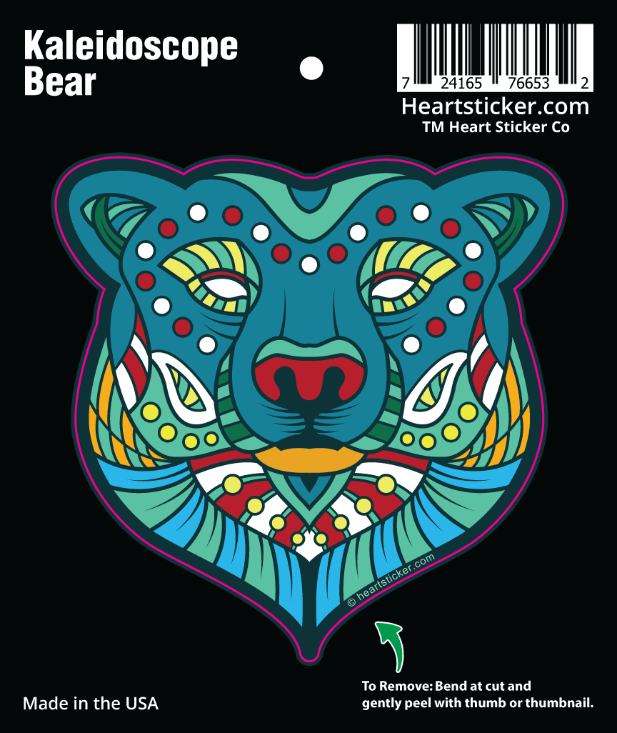 Kaleidoscope Bear - die cut