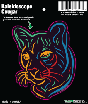 Kaleidoscope Cougar - Tribal - Vinyl Sticker - Die Cut - All Weather - Psychedelic