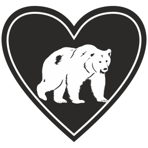 In My Heart - Grizzly Bear Sticker - The Heart Sticker Company