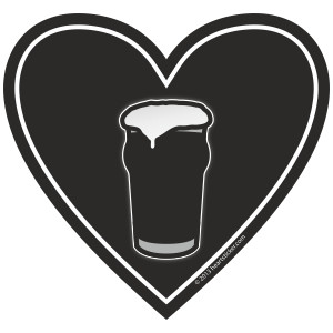 In My Heart - Beer Sticker - The Heart Sticker Company