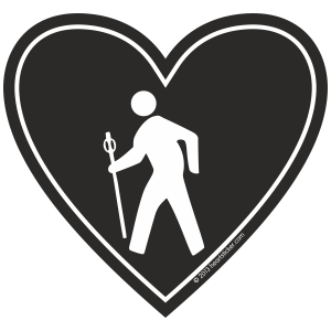 Hiker Love Sticker