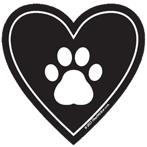 In My Heart - Dog Paw Sticker - The Heart Sticker Company