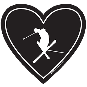 In My Heart - Skiing Sticker - The Heart Sticker Company