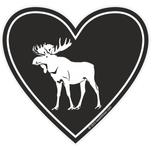 In My Heart - Moose Sticker - The Heart Sticker Company