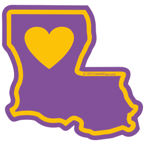 Heart in Louisiana Sticker - The Heart Sticker Company