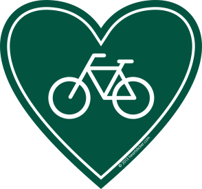 Sticker | Biking | In My Heart - The Heart Sticker Company