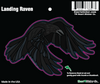 Sticker | Landing Raven - The Heart Sticker Company