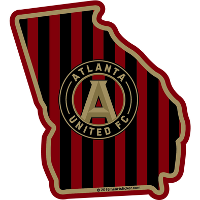 Sticker | Atlanta United| In GA - The Heart Sticker Company