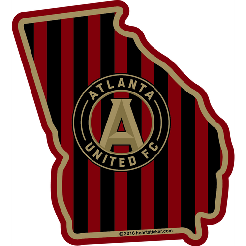 MLS Atlanta United FC Sticker - The Heart Sticker Company