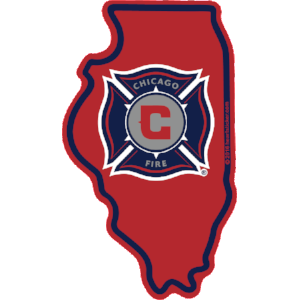 MLS Chicago Fire Sticker - The Heart Sticker Company