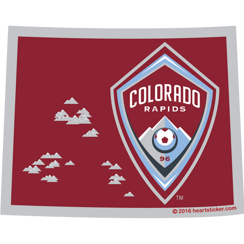 MLS Colorado Rapids Sticker - The Heart Sticker Company