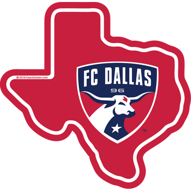 Sticker | FC Dallas in Texas | MLS - The Heart Sticker Company