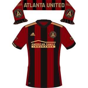 MLS - GA Atlanta United Uniform/Scarf Sticker- Single