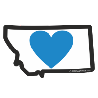 Heart in Montana Sticker - Small