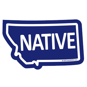 Heart in Montana - Native Sticker - The Heart Sticker Company