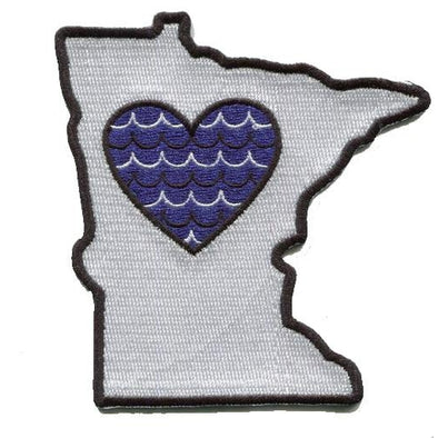 Patch | Heart In Minnesota | Sticky-Back - The Heart Sticker Company