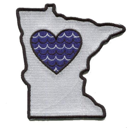 Minnesota - Heart in Minnesota MN Embroidered Sticker- Single