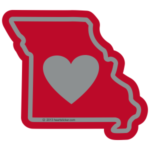 Heart in Missouri Sticker - The Heart Sticker Company