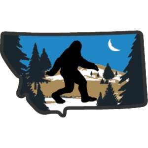 Bigfoot in Montana Sticker - The Heart Sticker Company