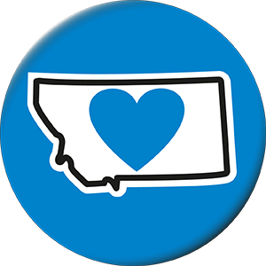 Montana Love Magnet (Round) - The Heart Sticker Company