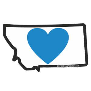 Heart in Montana Sticker (Large) - The Heart Sticker Company