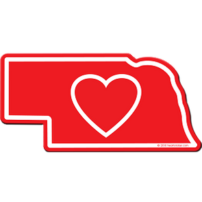 Sticker | Heart in Nebraska - The Heart Sticker Company