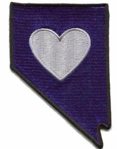 Patch | Heart In Nevada | Sticky-Back