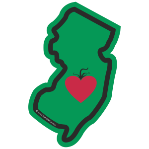 Heart in New Jersey Sticker - The Heart Sticker Company