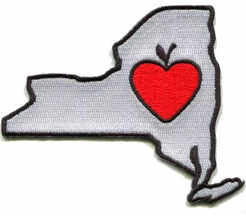 New York - Heart in New York NY Embroidered Sticker - Single