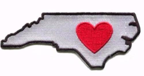 Heart in North Carolina Cooler Sticker Patch