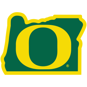 "Heart in Oregon Ducks ""O"" Sticker - The Heart Sticker Company"