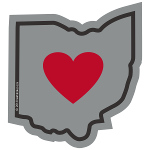 Sticker | Heart in Ohio - The Heart Sticker Company