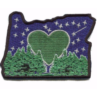 Patch | Heart In Oregon | Sticky-Back - The Heart Sticker Company