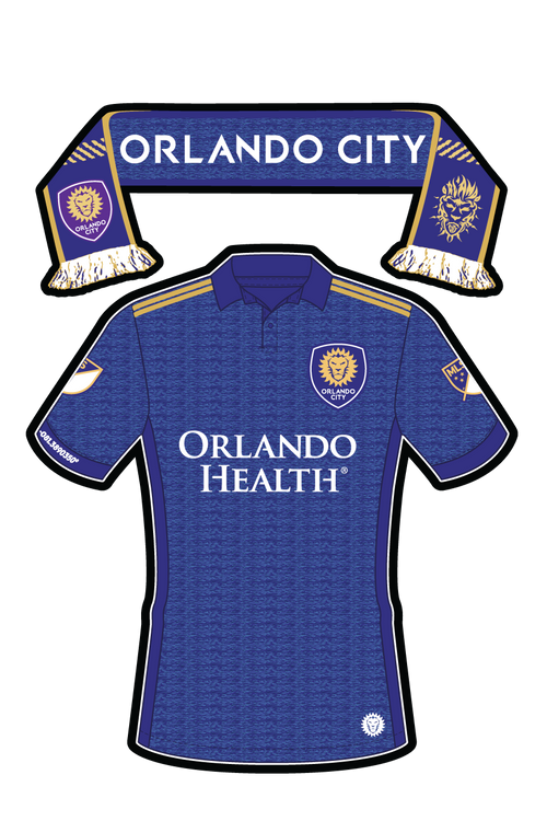 MLS Orlando City Uniform/Scarf Sticker