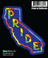 California rainbow pride sticker