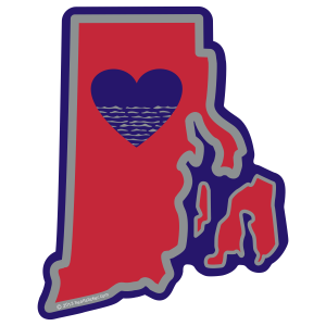Heart in Rhode Island  Sticker - The Heart Sticker Company