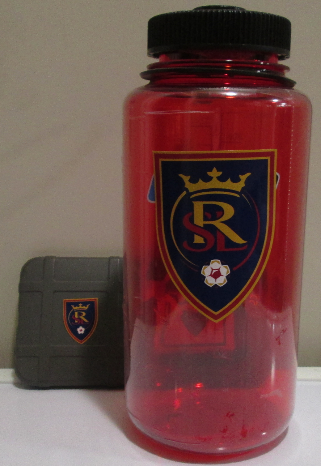 Real Salt Lake FC Shield  large sticker on a water bottle