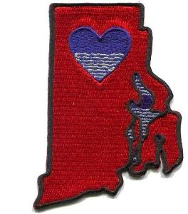 Patch | Heart In Rhode Island | Sticky-Back - The Heart Sticker Company