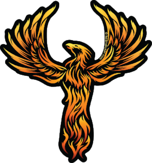 Rising Phoenix - Thunderbird - Sticker - Tribal - Die Cut